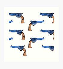 artsy gun pattern  Art Print