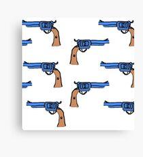artsy gun pattern  Canvas Print