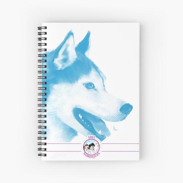 Husky avec logo - 1001 nordiques Cahier à spirale