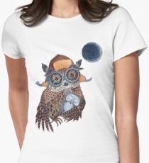 Owl mother Womens Fitted T-Shirt