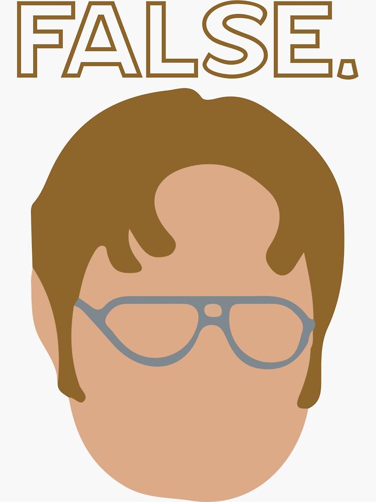 Dwight False Sticker by lglynn