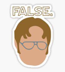 Pegatina Dwight False Póster