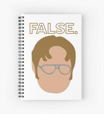 Dwight False Sticker Spiral Notebook