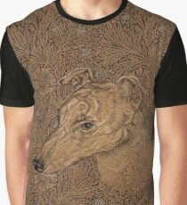 Yumi the greyhound on Morris marigolds Graphic T-Shirt