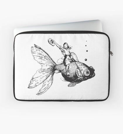 goldfish-riding cowgirl Laptop Sleeve