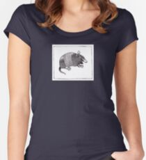 Graphic Armadillo Women's Fitted Scoop T-Shirt