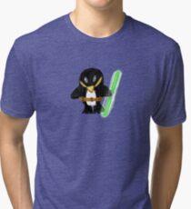 Jedi Penguin Tri-blend T-Shirt