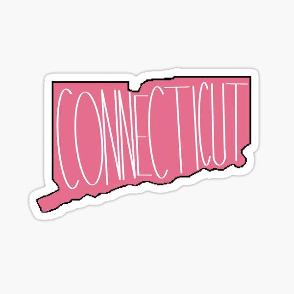 Connecticut in Pink Sticker