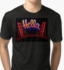 Hella - SF [Blue] Tri-blend T-Shirt