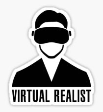 Virtual Realist - Black Clean Sticker