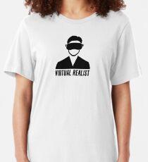 Virtual Realist - Black Clean Slim Fit T-Shirt