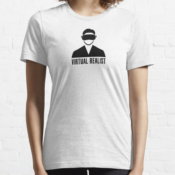 Virtual Realist - Black Clean Essential T-Shirt