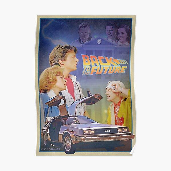Retour vers le futur affiche rétro vintage Poster