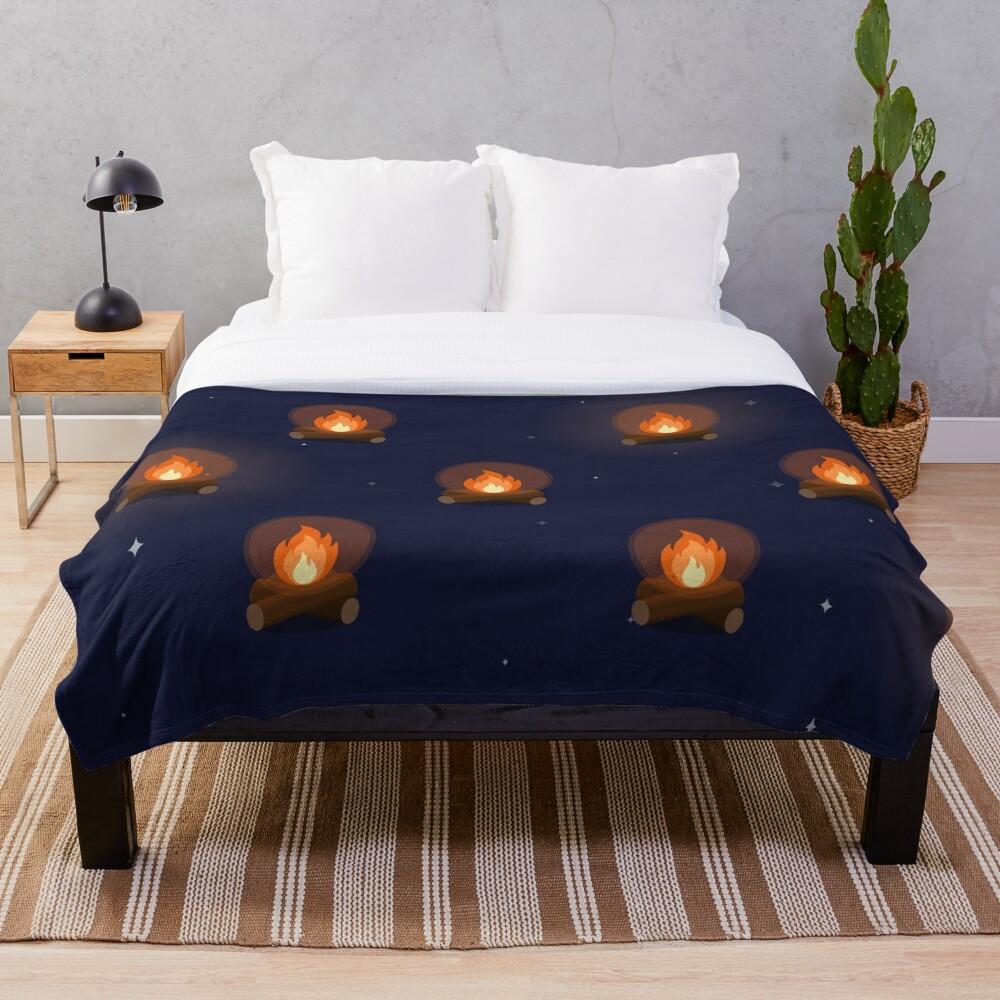 Fireside Pattern Throw Blanket