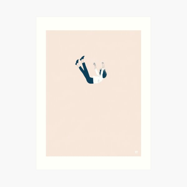 Falling feeling Art Print