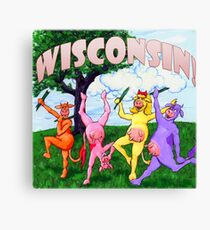 Colorful Wisconsin Cows Canvas Print