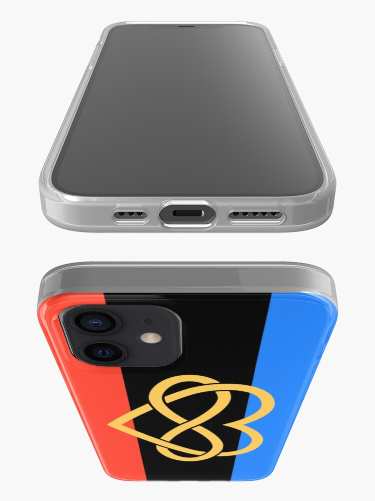 Alternate view of Polyamory Flag iPhone Case & Cover