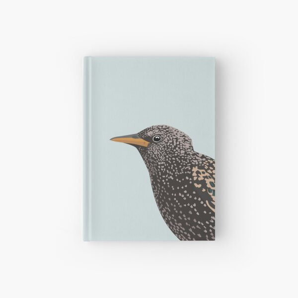 Starling close up Hardcover Journal
