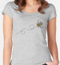 Flying Manchester Bee, Classic Edition Women's Fitted Scoop T-Shirt