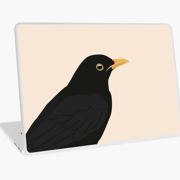 Blackbird close up Laptop Skin