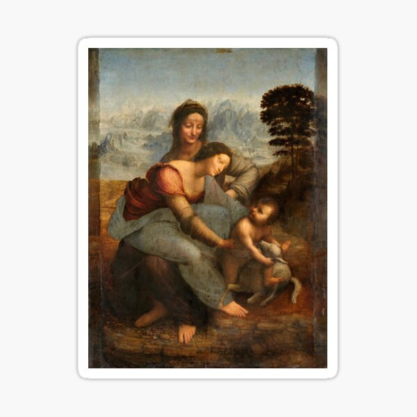 Leonardo da Vinci - Virgin and Child with St Anne Sticker