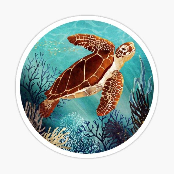 Metallic Sea Turtle Sticker