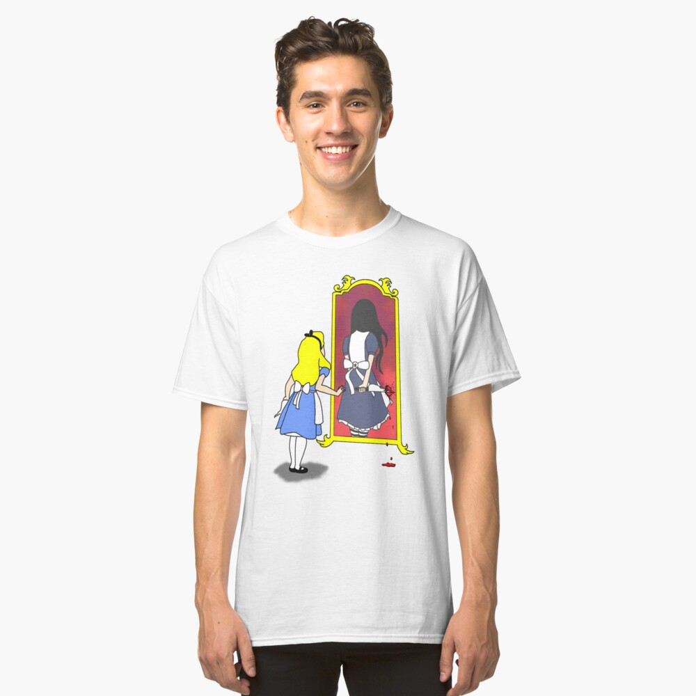 Madness through the looking glass Classic T-Shirt Front