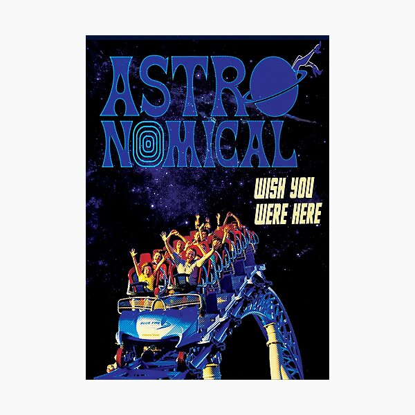 Travis Astroworld Concert Poster Photographic Print
