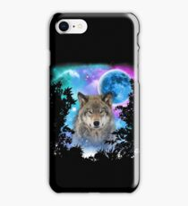 Timber Wolf MidNight Forest iPhone Case/Skin