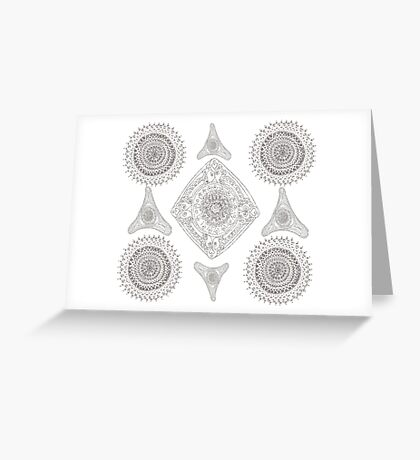 Many Mandalas Greeting Card