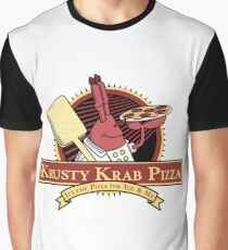 Krusty Krab Pizza Graphic T-Shirt