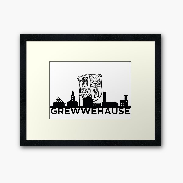 Grewwehause silhouette Framed Art Print