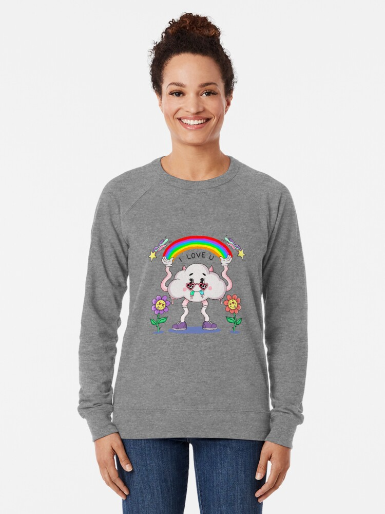 Alternate view of I LOVE YOU Lightweight Sweatshirt