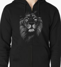 lion, indian lion Zipped Hoodie