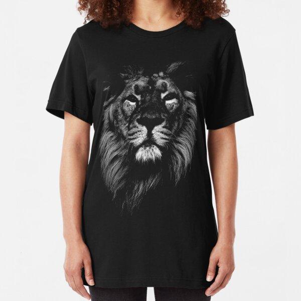 lion, indian lion Slim Fit T-Shirt