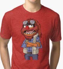 Macgruber - Animal Tri-blend T-Shirt
