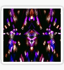 WA9 Colour in the Night fractal trace design Sticker