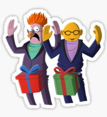 Beaker & Dr Bunsen - Dick in a box Sticker