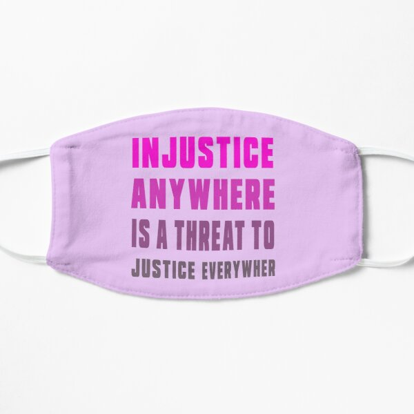 martin luther king jr direct quotes,  education equality, martin luther king jr justice quotes Flat Mask