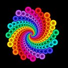 Rainbow Circle Medallion Mandala  by Kitty Bitty