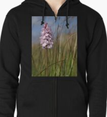 Spotted Orchid,  Portnoo, Co. Donegal Zipped Hoodie