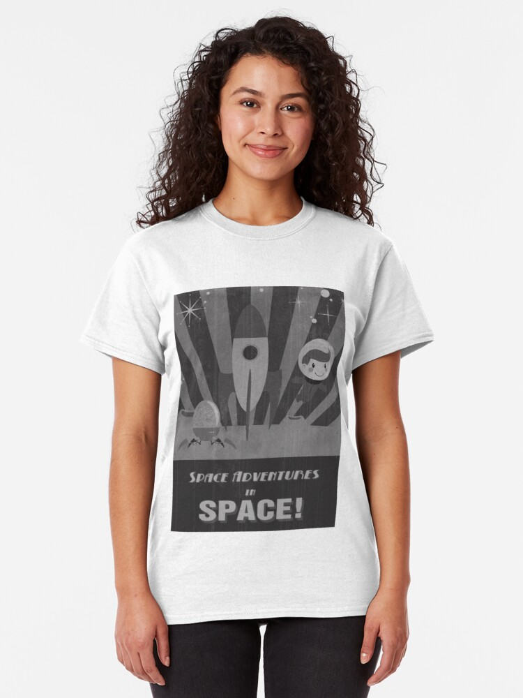 Alternate view of Space adventures, In Space!  Classic T-Shirt