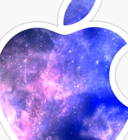 Galaxy Apple Logo Sticker