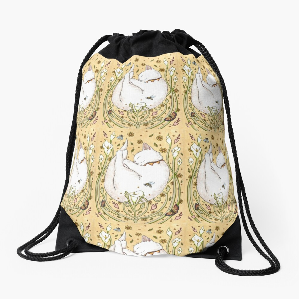 Butterflies and Bees Drawstring Bag