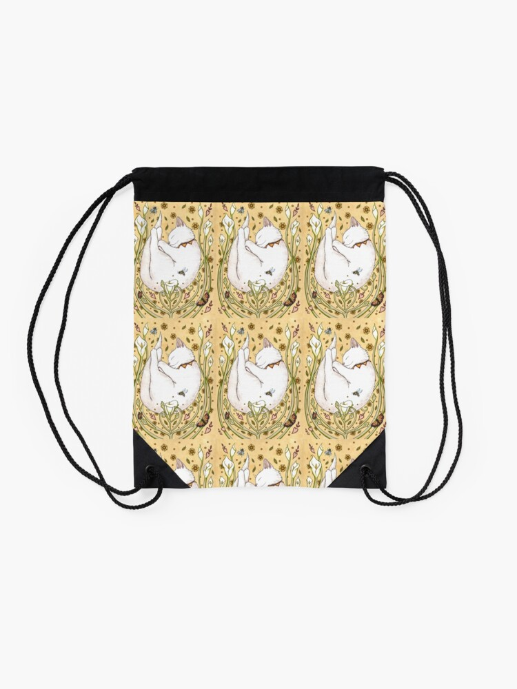 Alternate view of Butterflies and Bees Drawstring Bag