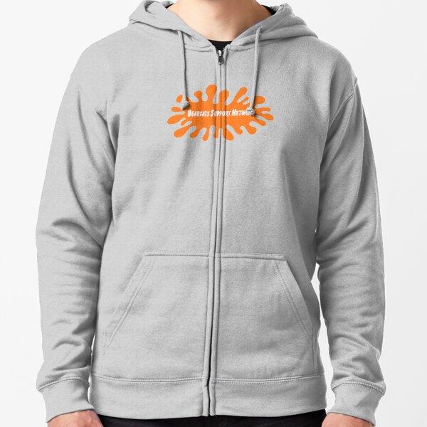 Orange Nick Logo Zipped Hoodie