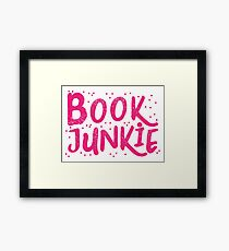 Book Junkie Framed Print