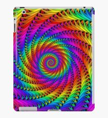 Psychedelic Rainbow Fractal Spiral iPad Case/Skin