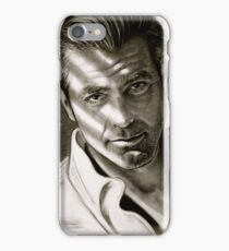 G. Clooney in black and white iPhone Case/Skin