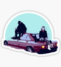 Christine and the Queens Booba - Here mercedes car clip Sticker